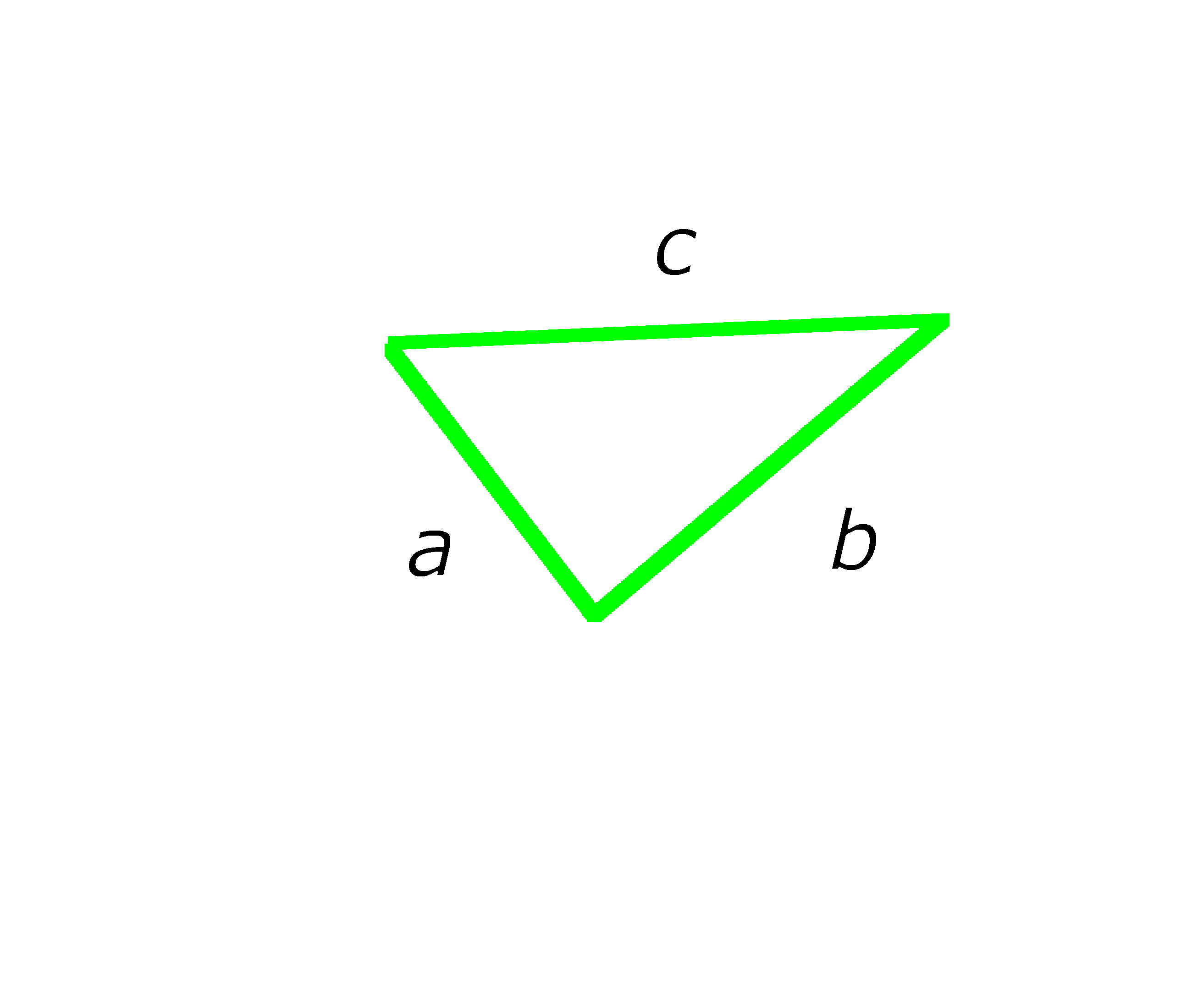 drawing of a triangle abc